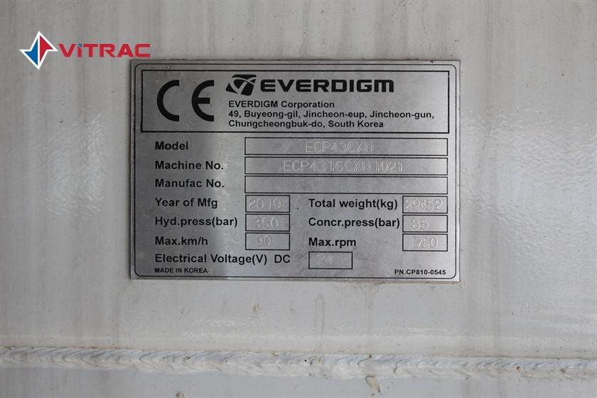 XE BƠM BÊ TÔNG HYUNDAI EVERDIGM ECP43CX-5 HD 310