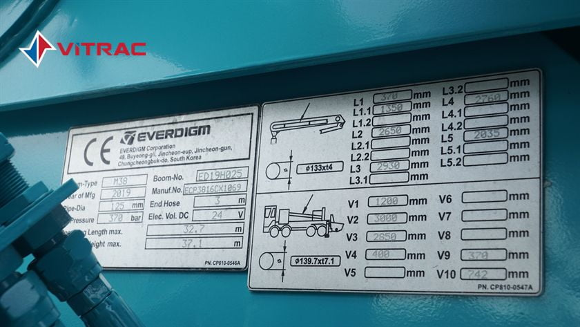 XE BƠM BÊ TÔNG HYUNDAI EVERDIGM ECP38CX-5